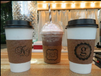 Monogramed coffee sleeves