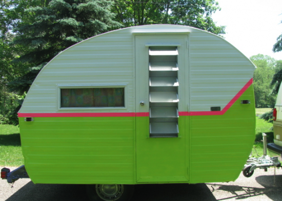 Neon Green Camper