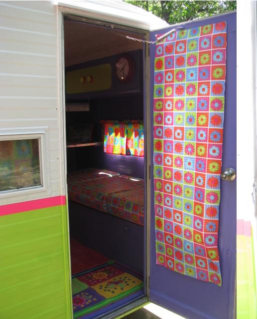 Neon Vintage Camper