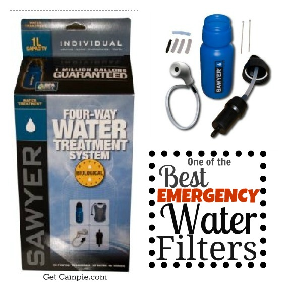 Emergency water filter