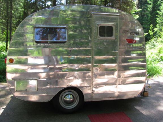 Canned Ham Vintage Trailer